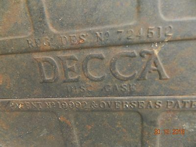 Vintage  Decca Steel Record  Case Full Of Lp 1930