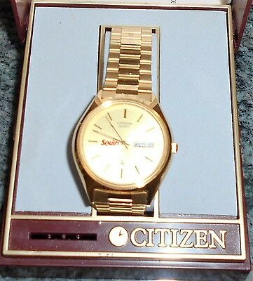 Citizen Quartz Mens Watch...'squirt' On Face...new/other (Collectible)