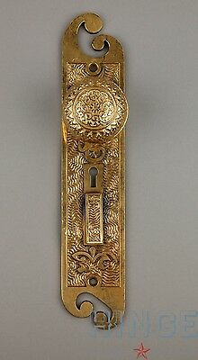 Antique 19th Century American Arabic Pattern Backplate with brass knob. Item371d