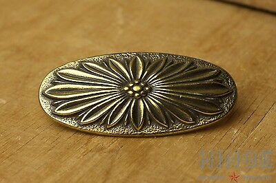 Set of 3 KB Brass Oblong, Flower pattern, Drawer Knobs/Pulls/Handles Item475