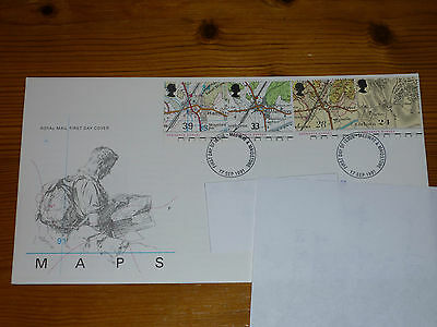 Maps (17.09.1991) Gb Royal Mail First Day Cover Fdc 1991