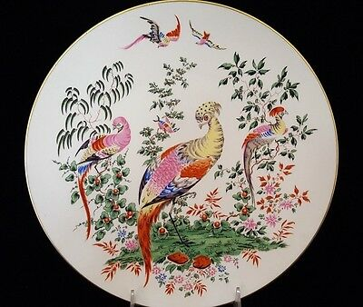 Royal Worcester FABULOUS BIRDS Peacocks Plate 1976 Limited Edition # 916
