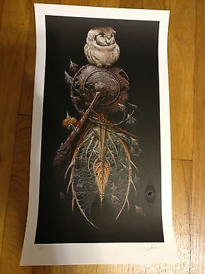 The Snare Signed Numbered Aaron Horkey Varnished Giclee Print Poster Grey COA