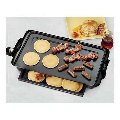 Nostalgia Electrics Living by Nostalgia Non-stick Griddle with Warming Drawer