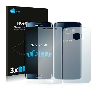 6x Savvies Screen Protector for Samsung Galaxy S6 Edge (Front + Back) Ultra