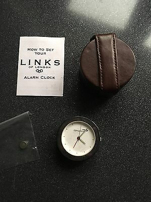 British Airways Concorde Links of London Time Travel Clock Leather Case New