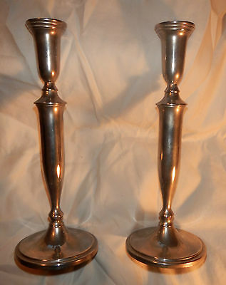 """Pair of silver plated candlestick holder 11.5"""" tall"""