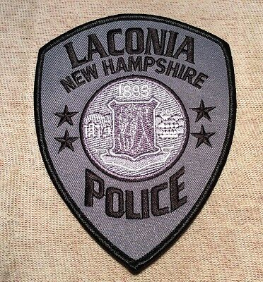NH Laconia New Hampshire Police Patch (Subdued)