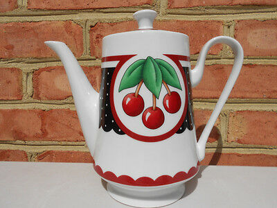 At Home With Mary Engelbreit Enesco Cherry Cameo Teapot