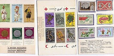 Assorted 1960's era stamps from Moroccoas supplied by local stamp shop