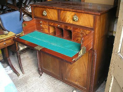 Antique Mahogany Secretaire Chiffonier Chest Early 19th Century