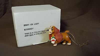 Disney Christmas Magic Tree Ornament - Lady and the Tramp - With Original Box