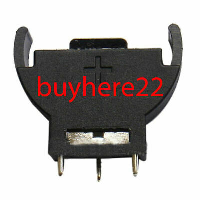 CR2032 2032 3V CMOS Cell Coin Battery Socket Holder Case Vertical New UK Seller