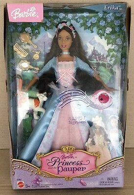 NIB 2004 Barbie Princess & The Pauper Erika African-American AA Doll *SEE PICS*