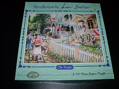 """""""The Parade"""" 750 pc. jigsaw puzzle by Susan Brabeau."""