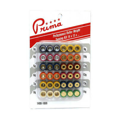 PRIMA ROLLER WEIGHT TUNING KIT (16mm X 13mm) (3G TO 14G) for 50cc Scooters