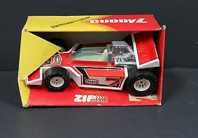 "Buddy L Pressed Steel Formula One Racer 5"" Japan 70s NIB Boxed 1979 Texaco"
