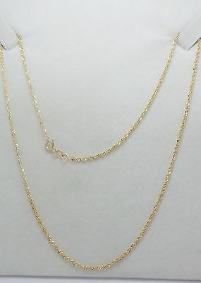 9Ct Yellow Gold Fine Twist Chain Necklace - 44Cm
