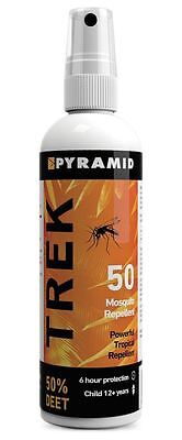Pyramid Trek 50 (formerly Repel 55) Insect/Mosquito Repellent - 120m x 3 pack