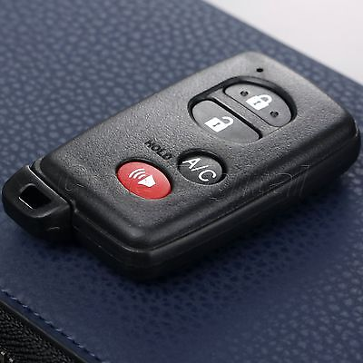 4 Buttons Car Remote Key Shell Case Fob & Uncut Blade For Toyota HYQ14AAB