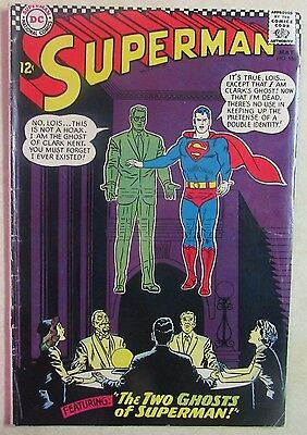 DC Comics - SUPERMAN Issue #186 - Silver Age Comic Book-1960s - Nice Copy