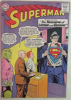 DC Comics - SUPERMAN Issue #173 - Silver Age Comic Book-1960s  - Lex Luthor