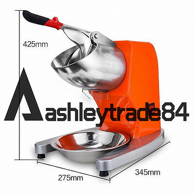 Commercial Electric Ice Shaver Crusher Snow Cone Machine 65kg/h TH-168 220V