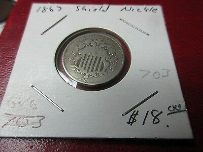 United States 1867 Shield Nickle