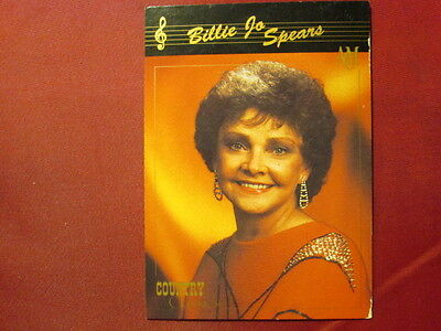 Billie Jo Spears Western Music 1992 COUNTRY CLASSICS TRADING CARD