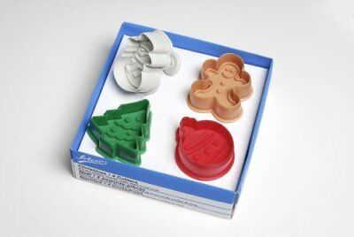 NEW Ateco Christmas Cutters 4 pce Cake Decorating Cake Baker