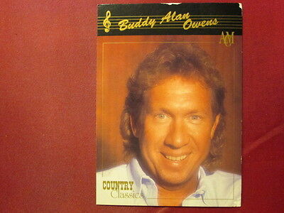 Buddy Alan Owens Western Music 1992 COUNTRY CLASSICS TRADING CARD