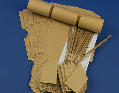 SAVE £5 - 30 Natural Brown Kraft Recycled Style Make & Fill Your Own Cracker Kit