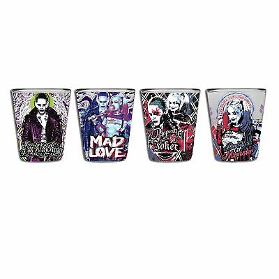 DC Comics Suicide Squad Shot Glass Glassware Set of 4