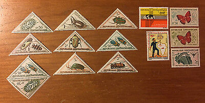 Central African Republic - 15 Assorted Postage Stamps