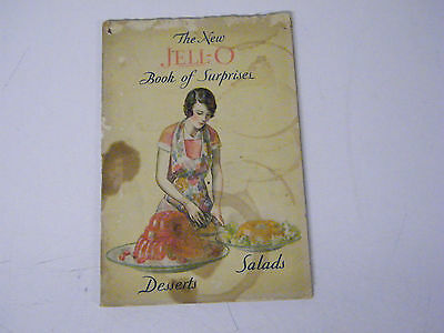 Vintage 1930 The New Jell-O Book Of Surprises Recipe Booklet