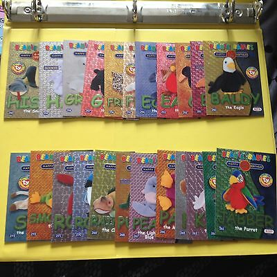 Rare TY Beanie babies Trading cards Birthday Green 23 of 24 Series 2 EU edition