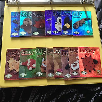 Rare TY Beanie babies Trading cards Retired Green set of 15 Series 2 US edition
