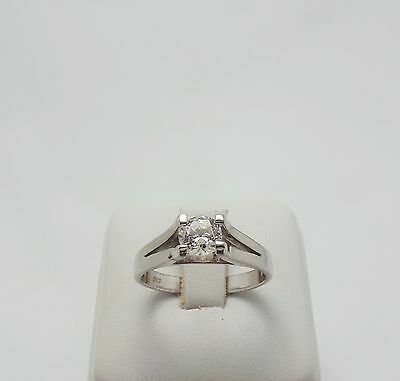 14Ct White Gold Solitaire Ring- Valued @$918 Comes With Valuation