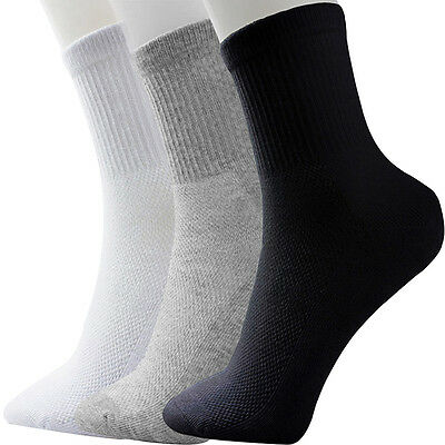 5 Pairs Men's Socks Winter GYM Casual Soft Cotton Blend Sport Sock Breathable