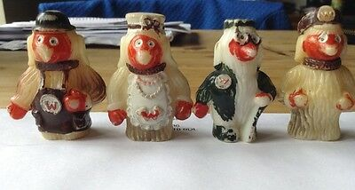 FOUR ORIGINAL 1970s WOMBLES PENCIL/PEN TOPS - ADVERTISING