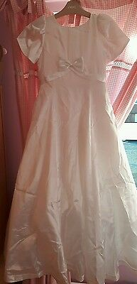 White Holy Communion formal dress age 8 Trudi Lee occassion brolly