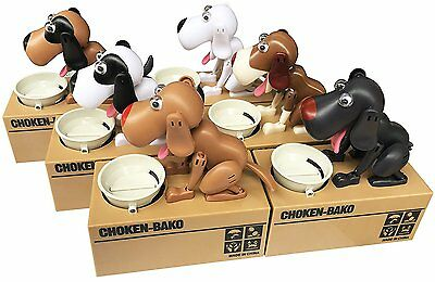 Robotic Hungry Brown Dog Puppy Bank Coin Eating Save Saving Canine Money Box