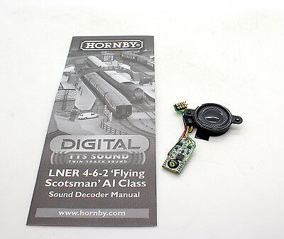 Hornby Digital Class A1 Flying Scotsman Tts Sound Decoder And Speaker *new*