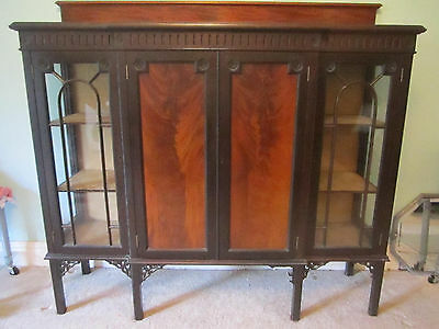 STUNNING BREAKFRONT CUPBOARD/DISPLAY-EARLY 1900's