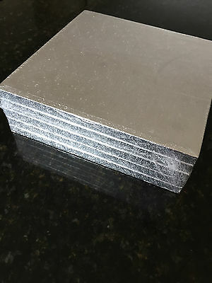 BULK 5 PACK of Cake Boards Square Silver Drum Board 12mm Thick