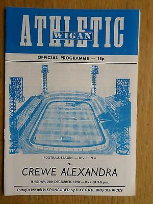 Wigan Athletic v Crewe Alexandra 1978/79 programme