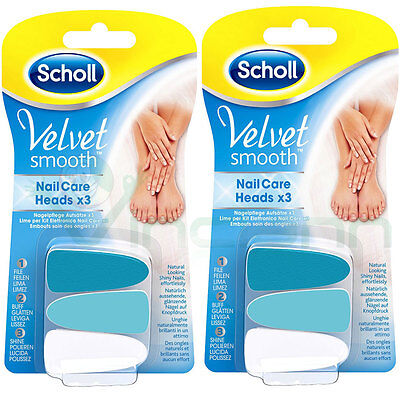Kit 6 Lime ricambio testina originale Scholl Velvet Smooth Nail Care lima unghie