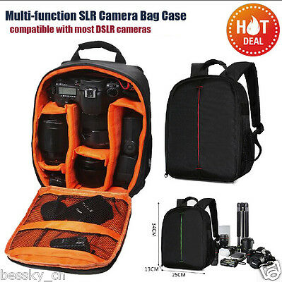 New Camera Bag Backpack Waterproof DSLR Case with Carabiner for Canon for Sony