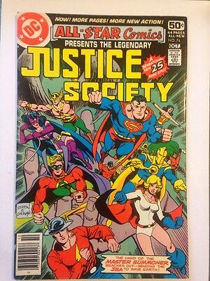 Justice Society & Last Issue Dc Comics 1978