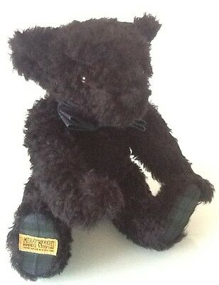 Merrythought Mohair Black Watch Teddy Bear Limited Edition 305/750 With Growler